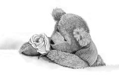beertje met roos